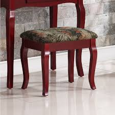 Vanity Table And Stool Set Ribbon Wood Cherry Makeup Vanity Table And Stool Set Free