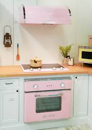 pastel kitchen ideas pastel pink range and vent yellow microwave light mint green