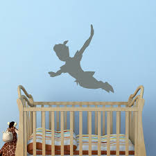 wall decoration peter pan shadow wall decal lovely home peter pan shadow wall decal home design planning fabulous