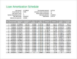 Amortization Schedule Excel Template Free Amortization Schedule Template 7 Free Word Excel Pdf Format