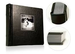 5 X 5 Photo Album Handmade Coffee Leather Professional Flush Mount Wedding Albums 7 X 5