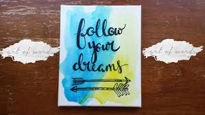 follow your dreams canvas quote art wall hanging dorm decor