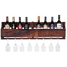 amazon com great lakes reclaimed wall mounted wine rack espresso