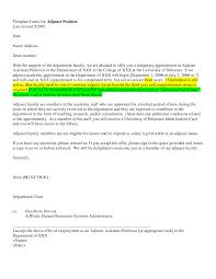 sample cover letter for college teaching position ini site names