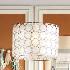 pottery barn teen lighting piper capiz hanging pendant pbteen