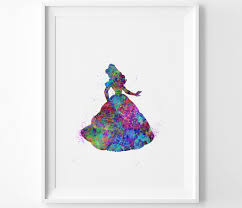 beauty and the beast instant download art print belle disney