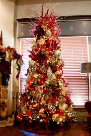 elegant decorated christmas trees red and gold elegant christmas
