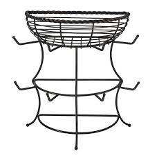 gourmet basics by mikasa flatback mug tree with basket reviews