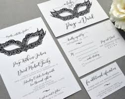 masquerade wedding invitations masquerade mask etsy