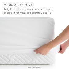 weekender hotel grade white 5 sided jersey full mattress protector