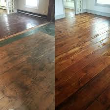 Urine Out Of Hardwood Floors Original Wood Floors Pumpkin Pine Floors Circa 1840 Before And
