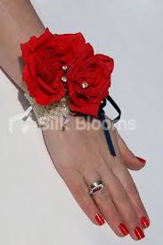Red Rose Wrist Corsage Shop Red Silk Rose Christmas Wedding Wrist Corsage W Clear