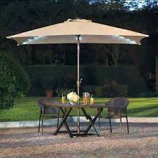 Led Patio Umbrella by Solar Patio Umbrella Blue Patio Umbrella Solar Powered Led Lights