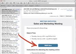 Business Letter Format Sent Via Email Meeting Requests Invitations And Follow Up Meeting Email