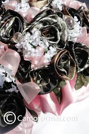 camo flowers camo floral special occasion bouquet camouflage prom wedding
