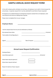leave request form sample sample leave request form 8 examples in