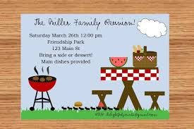 Reunion Invitation Cards Funny Picnic And Bbq Party Invitation Card For Birthday Event And