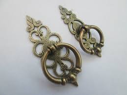 cabinet ring pulls with backplate vintage victorian kitchen cupboard cabinet drawer decorative fancy