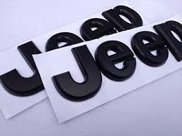 jeep black emblem 2pcs flat matte black jeep emblem logo stickers wrangler
