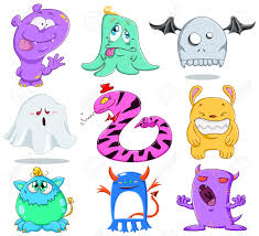 Cute Halloween Monsters by A Illustration Of Cute Funny And Scary Monsters For Halloween