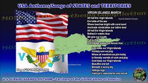 Virgin Islands Flag Us Virgin Islands Anthem Virgin Islands March With Music Vocal