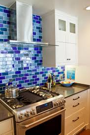 Kitchen Backsplash Tile Patterns Mirror Tile Blue Kitchen Backsplash Porcelain Wood Countertops
