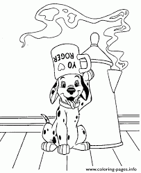 dalmatian and coffee cup 05d1 coloring pages printable