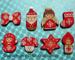 gera by kyoko maruoka mini ornaments cross stitch pattern