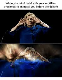 Reptilian Meme - when you mind meld with your reptilian overlords to energise you