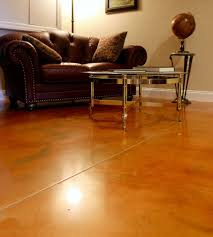Photos Of Stained Concrete Floors by Stained Concrete Floors Give A Finished Basement A Designer Look