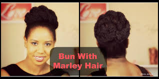 what is a marley hairdos easy bun with marley twist hair hairstyle youtube