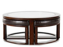 round coffee table with 4 stools ashley round glass coffee table with 4 stools best gallery of