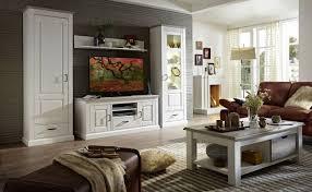 Wohnzimmerschrank Pinie Weiss Wohnwand Lima Uu83 Pinie Weiß Gebürstet Nachbildung 4 Teilig Montiert
