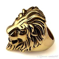 rings king images Gold plated unique stainless steel exaggerated king face ring jpg