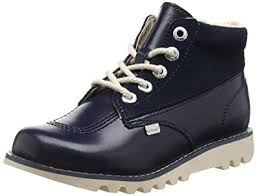 womens kicker boots uk kickers kick hi side leather dk blue s ankle boots blue