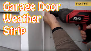 diy how to install garage door weather seal winterize with