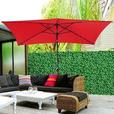 Rectangle Patio Umbrella 10 X6 5 Solar Rectangle Outdoor Tilt Patio Umbrella