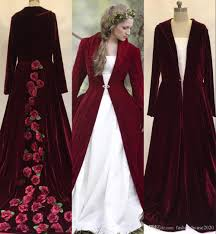 2017 new winter christmas a line wedding dresses cloaks burgundy