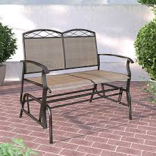 corliving patio double glider speckled brown outdoor chairs