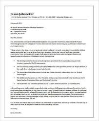 cover letter financial analyst senior financial analyst cover