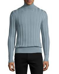 tom ford sweater tom ford silk ribbed turtleneck blue silver