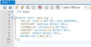 sql create table primary key autoincrement export data to the mysql database