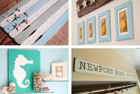 themed bathroom wall decor crafts coastal diy wall