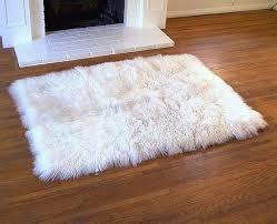 white fur rug white fur rugs tibetan lambswool