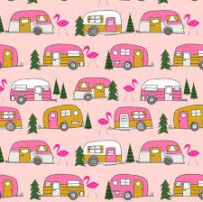 vintage camper pink vintage retro camper van cute retro design