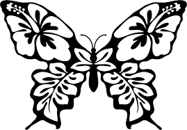 butterfly and flower clip art in black and white u2013 101 clip art