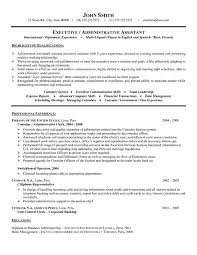 resume examples resume template executive assistant