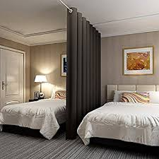 bedroom divider curtains amazon com rhf privacy room divider curtain 8ft tall x 15ft wide