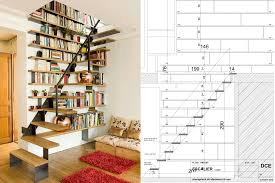 interior brilliant stair bookcase ideas for space saving home