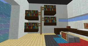 bookshelf custom bookcase minecraft cool bookcase minecraft how